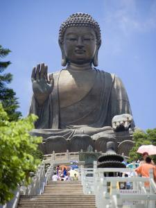 Tian Tan Buddha Statue, Lantau Island, Lantau Island, Hong Kong, China by Greg Elms