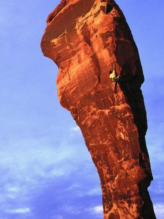 Man Rock Climbing, Canyonlands, UT