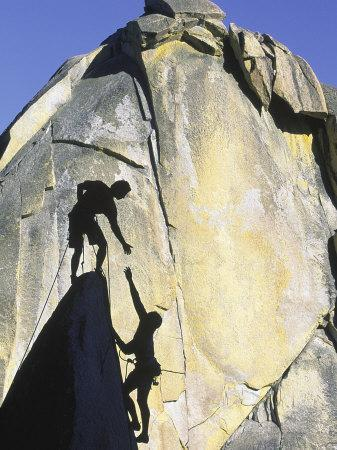 Two Rock Climbers, the Needles, CA