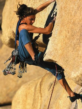 Woman Rock Climbing, CA