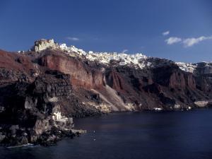 Village of Ia From Ferry, Santorini, Greece by Greg Gawlowski