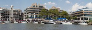 Georgetown Waterfront with Restaurants and Boats Along Potomac River by Greg