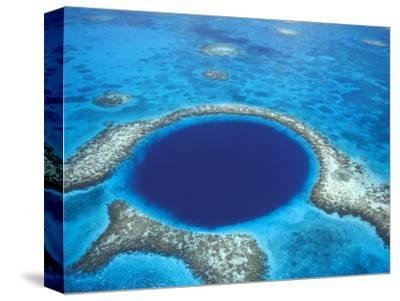 Aerial View of Blue Hole at Lighthouse Reef, Belize