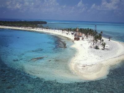 Aerial View of Lighthouse Reef, Belize