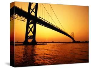 Ambassador Bridge, U.S.A. by Greg Johnston