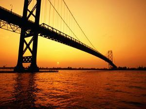 Ambassador Bridge, U.S.A. by Greg Johnston