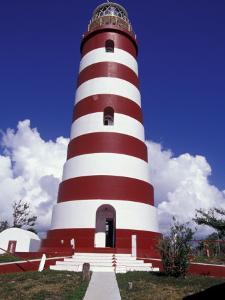 Candystripe Lighthouse, Elbow Cay, Bahamas, Caribbean by Greg Johnston