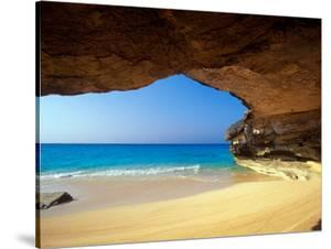 Cave at French Bay, San Salvador Island, Bahamas by Greg Johnston