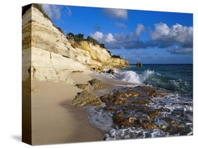 Cliffs at Cupecoy Beach, St. Martin, Caribbean