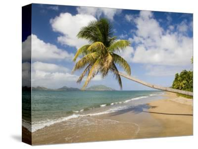 Coconut Grove Beach at Cades Bay, with St. Kitts on Horizon
