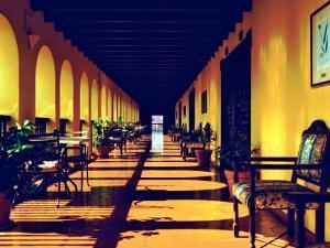 El Convento Hotel, Patio del Nispero, Courtyard, San Juan, Puerto Rico by Greg Johnston