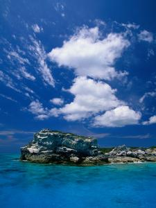 Electric Blue Water Surrounds Conception Island, Near Long Island, Bahamas by Greg Johnston