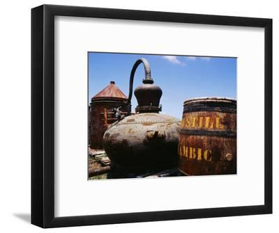 Old Barrel and Storage Tank, Saint Martin, Caribbean