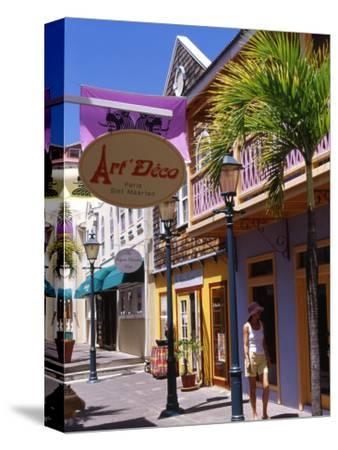 Old Street of Philipsburg, St. Martin, Caribbean