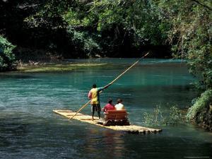Rafting on the Martha Brae River, Jamaica, Caribbean by Greg Johnston