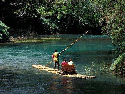 Rafting on the Martha Brae River, Jamaica, Caribbean