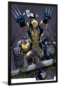 Uncanny X-Men No.511 Group: Wolverine, Cyclops, Colossus and Northstar by Greg Land