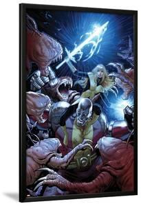 Uncanny X-Men No.8 Cover: Colossus and Magik Fighting by Greg Land