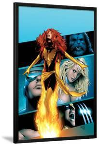X-Men: Phoenix - Endsong No.2 Cover: Phoenix, Beast, Emma Frost, Cyclops and Wolverine by Greg Land