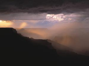 Rainstorm over the Grand Canyon at Sunset, Grand Canyon NP, Arizona by Greg Probst