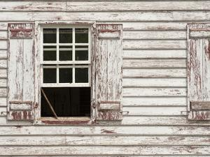 Sash Window Propped Open on a Historic House in Colonial Williamsburg by Greg
