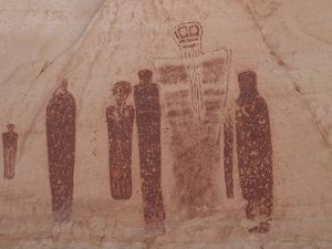 A Fremont Indian Pictograph in the Great Gallery by Greg Winston