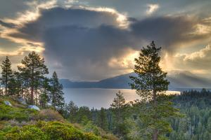 A Storm at Sunrise over Lake Tahoe, California by Greg Winston