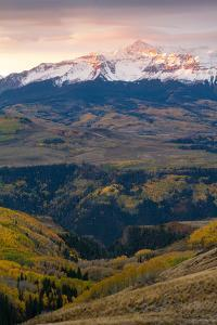 Mount Wilson At Sunrise In The Snow Capped San Juan Mountains by Greg Winston
