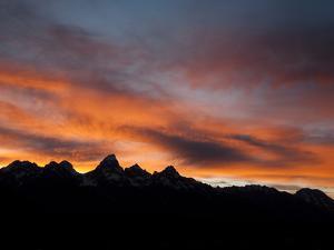 Sunset Behind the Teton Range, Grand Teton National Park, Wyoming by Greg Winston