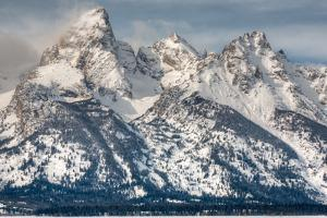 The Grand Teton, Mt. Owen, and Mt. Teewinot in Winter by Greg Winston