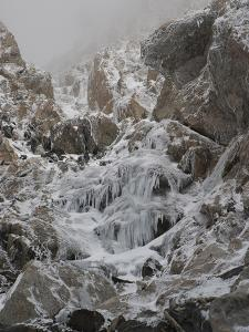 The Icy Approach to the Upper Saddle and Grand Teton by Greg Winston