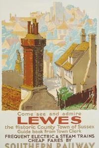 Lewes, Poster Advertising Southern Railway by Gregory Brown