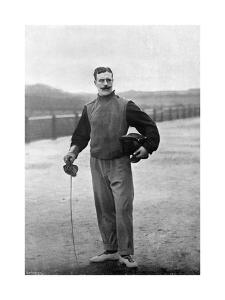 Captain Walter Edgeworth-Johnstone of the Royal Irish Regiment, Aldershot, Hampshire, 1896 by Gregory & Co