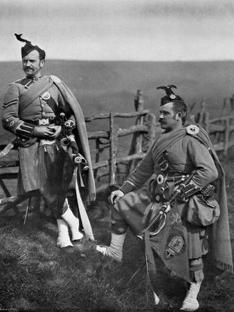 Pipe-Major Reith and Corporal-Piper Reith of the London Scottish, 1896