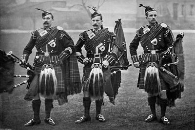 Pipers of the 1st Scots Guards, 1896