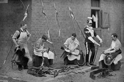 Saddlers of the 17th Lancers at Work, 1896