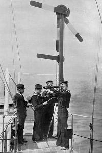 Signalling by Semaphore on Board HMS Camperdown, 1895 by Gregory & Co