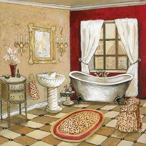 Leopard Florentine Bath by Gregory Gorham