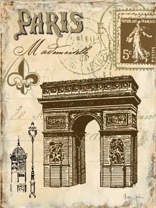 Paris Collage II by Gregory Gorham