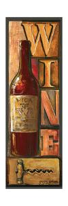 Type Set Wine Panel I by Gregory Gorham