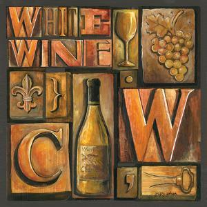Type Set Wine Sq II by Gregory Gorham
