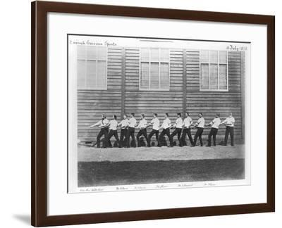 Grenadier Guards, Tug-Of-War Champions at the Curragh, 1876--Framed Photographic Print