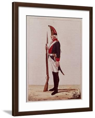Grenadier of the First Marine Battalion, 1786--Framed Giclee Print
