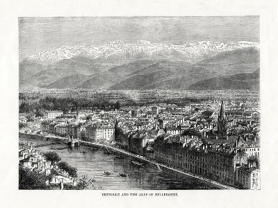 Grenoble and the Alps of Belledonne, France, 1879--Giclee Print