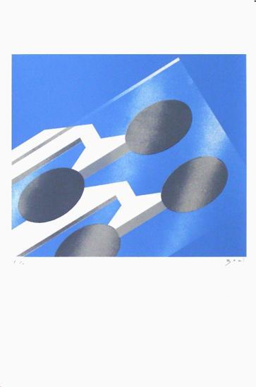 Grenoble - Verre-Alberto Bali-Serigraph