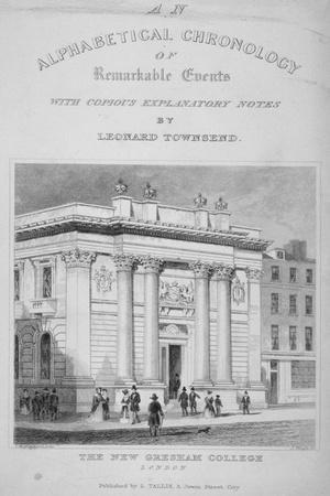 Gresham College, Basinghall Street, City of London, 1845-James Tingle-Giclee Print