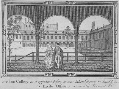 Gresham College, City of London, 1760--Giclee Print