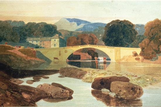 Greta Bridge, Yorkshire, 1810-John Sell Cotman-Premium Giclee Print