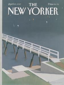 The New Yorker Cover - April 13, 1987 by Gretchen Dow Simpson