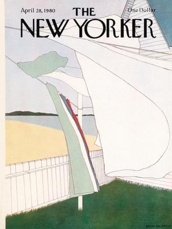The New Yorker Cover - April 28, 1980 by Gretchen Dow Simpson